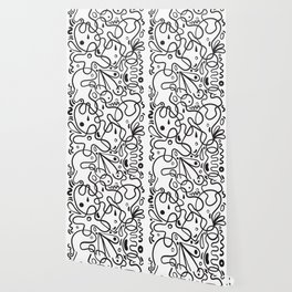 Black & White Blobs Wallpaper