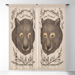 The Bear and Cedar Blackout Curtain