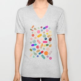 Unicorn Pills Light Unisex V-Neck
