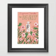 the big sleep Framed Art Print