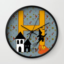 H is for Halloween Wall Clock