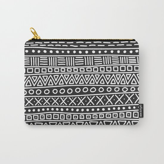 Geometric Doodle Plaid Carry-All Pouch