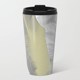 Gray and Gold I Banana Leaves Travel Mug