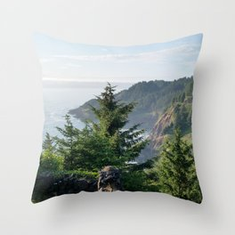 Cape Foulweather Vantage Point Throw Pillow