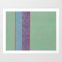 3 Red Lines  Art Print