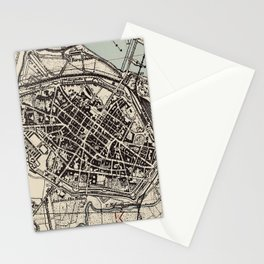 Vintage Map of Piacenza Italy (1943) Stationery Cards