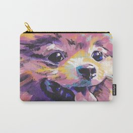 Fun Pomeranian Dog bright colorful Pop Art Carry-All Pouch