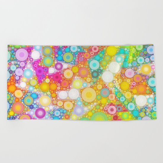 Sunny Bubbles on the Water Beach Towel
