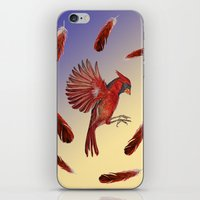 cardinal iPhone & iPod Skins featuring Cardinal by Jody Edwards Art