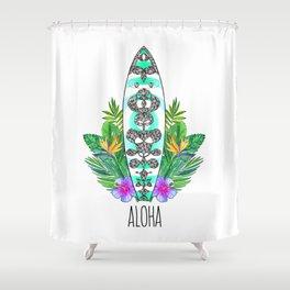 Surf style Aloha Shower Curtain