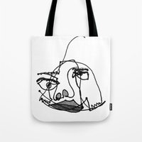 muppet Tote Bags featuring muppet kate by Kate L Porter
