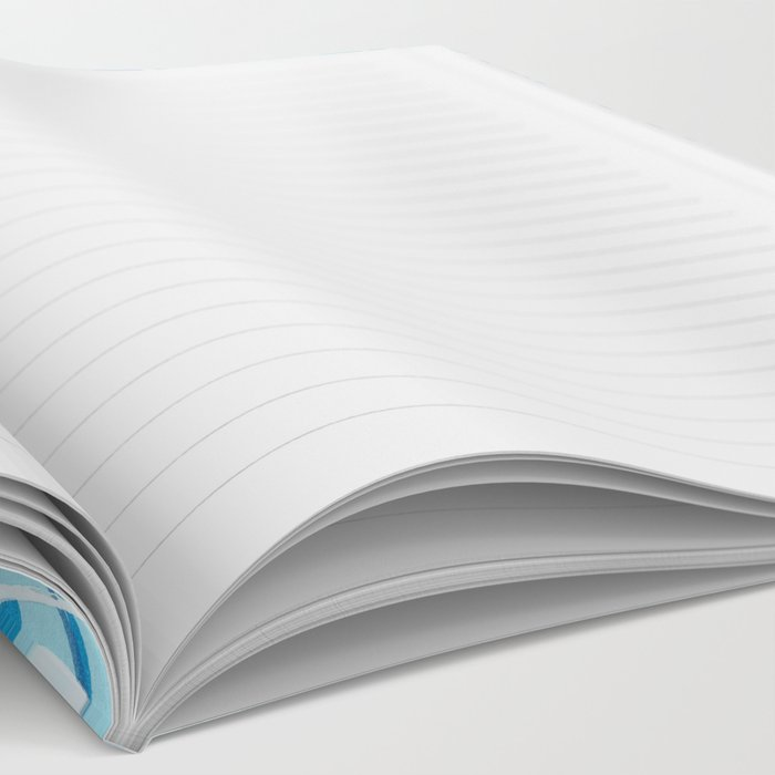 Blue Ripples Notebook