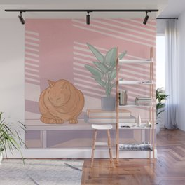 Cat Nap Wall Mural