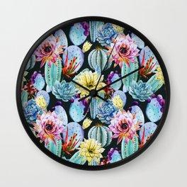 Cactus Pattern 12 Wall Clock