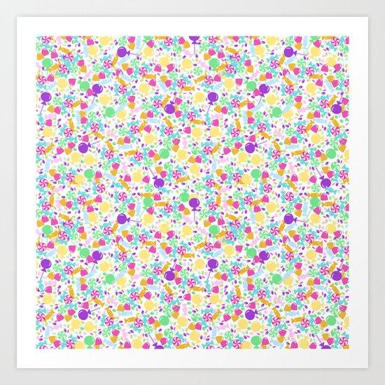 Ditsy Candy Art Print