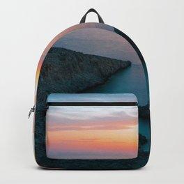 Greek paradise landscape digital oil painting Backpack