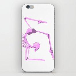 Skeleton in Scorpion Pose iPhone Skin