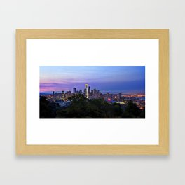 Seattle sunrise Framed Art Print