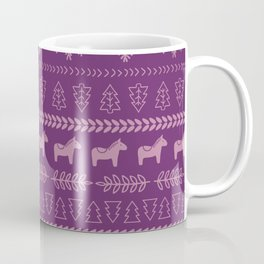 Scandinavian Christmas in Purple Coffee Mug