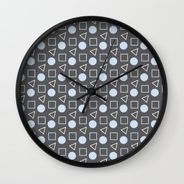 Geo Sprinkles Light Pastel Blue (Black Sesame) Wall Clock
