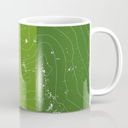 Green topographic map of a mountain Coffee Mug