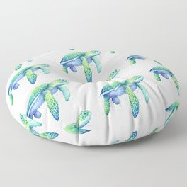Green Sea Turtle Floor Pillow