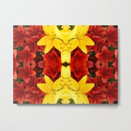 """A Gathering of Lilies"" Remix - 1 (4-1) [D4465~12] Metal Print"