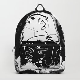 Waiting for Help to Arrive - b&w Backpack