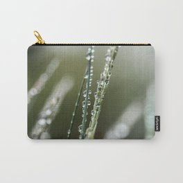 Waterdrops in the grass Carry-All Pouch