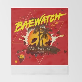 Baewatch - Wet Electric Throw Blanket