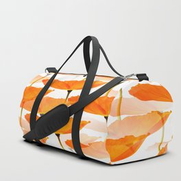 Orange Poppies On A White Background #decor #society6 #buyart Duffle Bag