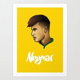 Neymar Brazil Art Print
