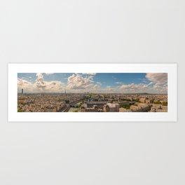 Paris, France - Panorama  Art Print