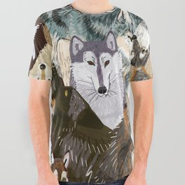 Wolves o´clock (Time to Wolf) All Over Graphic Tee