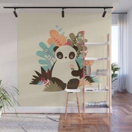 Flower Panda Wall Mural