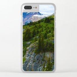 Views along the Wilcox Pass Hike in Jasper National Park, Canada Clear iPhone Case