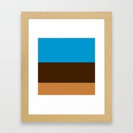 Tri-Color [Blue, Chocolate, Tan] Framed Art Print