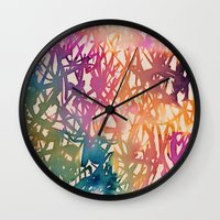 sparkle Wall Clocks featuring Sparkle by zeze