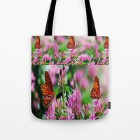 wedding Tote Bags featuring Wedding Butterfly by BeachStudio