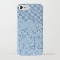 iPhone Cases featuring Ab Lines 45 Blues by Project M
