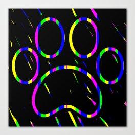 Paw Print Scratch Art Canvas Print