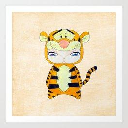 A Boy - Tigger Art Print