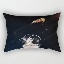 Pug and Pizza Space Rectangular Pillow