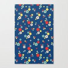 blossom ditsy in monaco blue Canvas Print