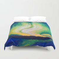 the lights Duvet Covers featuring Lights  by Shazia Ahmad