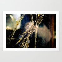 cracked Art Prints featuring Cracked by GrandmaStyleCo