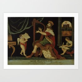 David Praising God Art Print