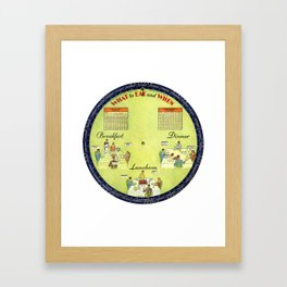 What To Eat ... and When Framed Art Print