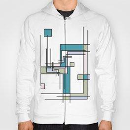 Untitled Line Composition- Mondrian Inspired Digital Illustration Art Print Hoody