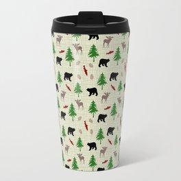 Moose & Bear Pattern Travel Mug